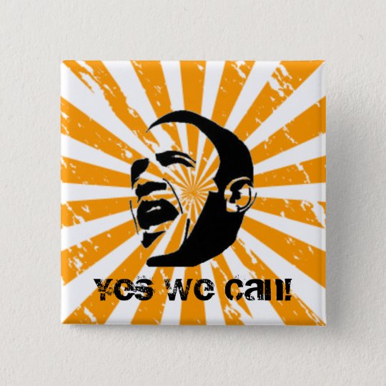 Yes We Can! 15 Cm Square Badge