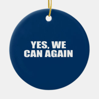 YES WE CAN AGAIN CHRISTMAS TREE ORNAMENTS