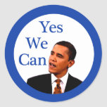 Yes We Can Barack Obama 2008 Stickers