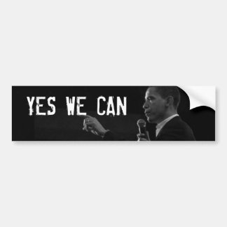 YES WE CAN Bumper Sticker with Obama Photo Car Bumper Sticker