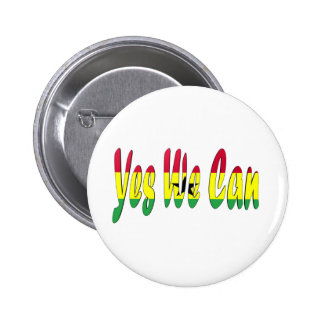 Yes We Can Ghana Flag Pin