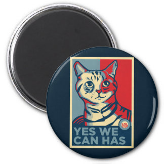 Yes We Can Has 6 Cm Round Magnet