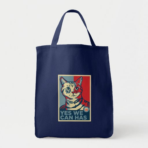 Yes We Can Has Canvas Bags