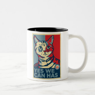 Yes We Can Has Two-Tone Mug
