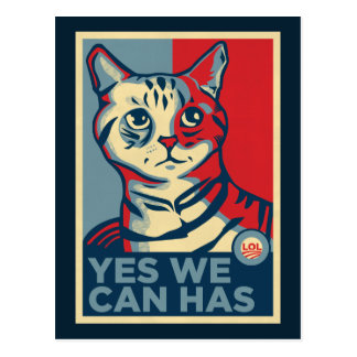 Yes We Can Has Postcard