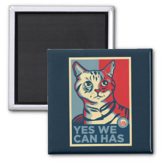 Yes We Can Has Square Magnet
