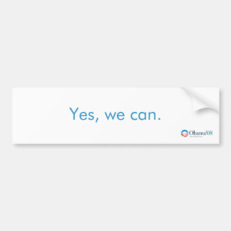 Yes We Can Obama 2008 Bumper Sticker