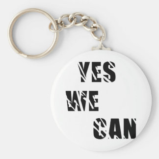 Yes We Can Obama Barack El Presidente Basic Round Button Key Ring