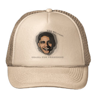 YES WE CAN OBAMA FOR AMERICA HAT