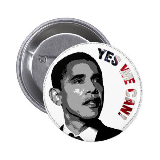 Yes We Can! - Obama Political Button