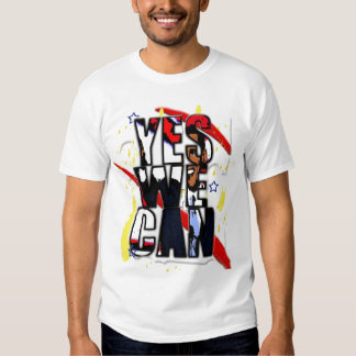 YES WE CAN OBAMA TEE
