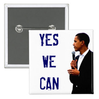 Yes We Can w/ Obama Picture Button
