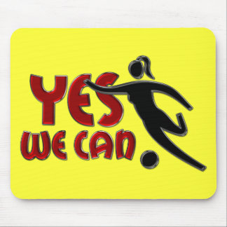 YES WE CAN - Women Soccer Mouse Pads