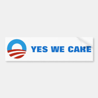 YES WE CARE BUMPER STICKER
