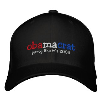 Yes We Did Barack Obama Official Party Hat Embroidered Cap