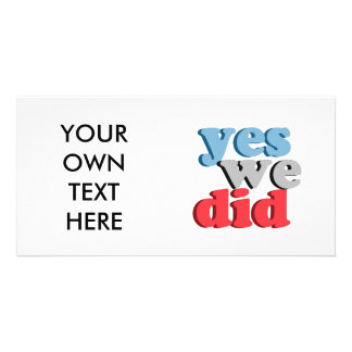 Yes we did T-shirt Photo Card Template