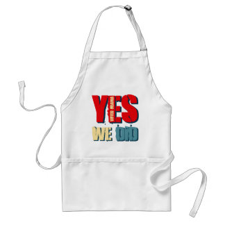 Yes We Did Voted Obama Standard Apron