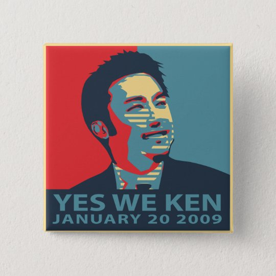 Yes We Ken (Obama) button