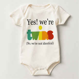 Yes! We're Twins Baby Bodysuit