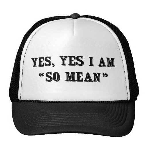 """Yes, Yes I Am """"So Mean"""" Trucker Hat"""