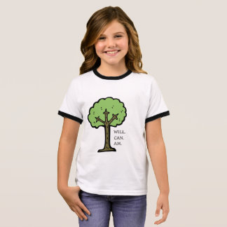 Yes, you can artwork #1 | Kids {For girls} Ringer T-Shirt