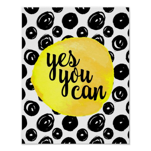 Yes You Can Quote Poster