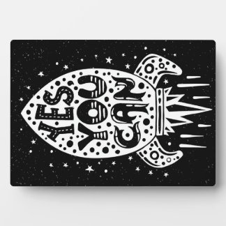 Yes You Can Rocketship Display Plaque