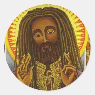 Yeshu Rasta Fari Classic Round Sticker