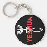 Yeshua Basic Round Button Key Ring