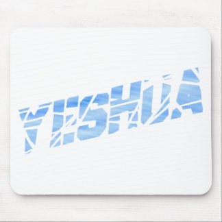 Yeshua cassé Bleu Clair Mousepad