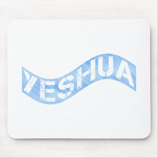 Yeshua Drapeau bleu clair Mousepad