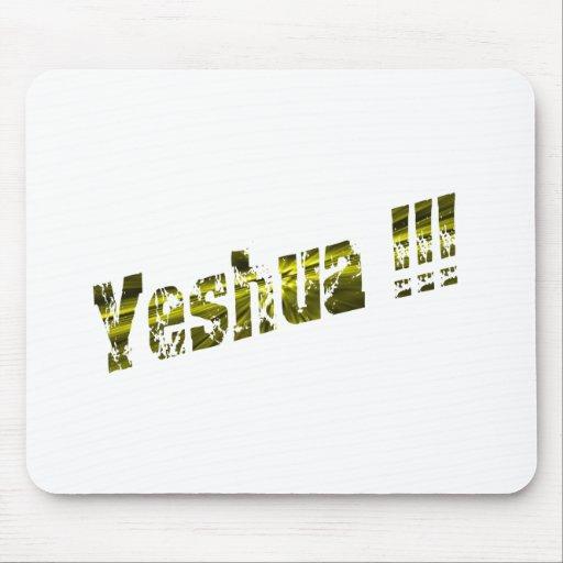 Yeshua Effet jaune Mouse Pad