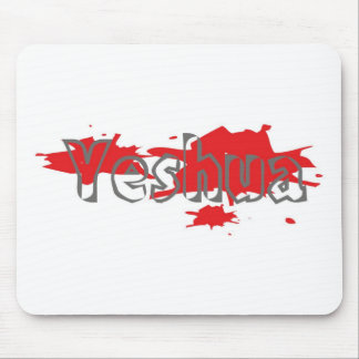 Yeshua Gris taches rouges Mousepad