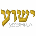 Yeshua - Jesus in Hebrew Embroidered Hoodies