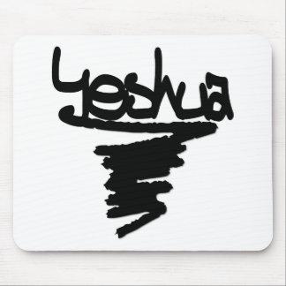 Yeshua peinture noire mouse pads