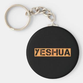 Yeshua tampon Orange fond noir Basic Round Button Key Ring