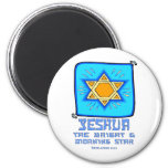 Yeshua The Bright and Morning Star 6 Cm Round Magnet