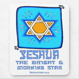 Yeshua The Bright and Morning Star Mouse Pad