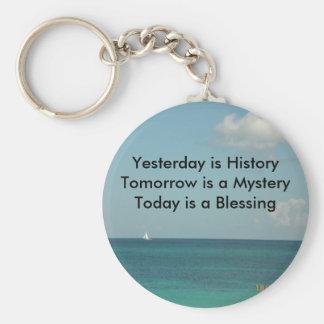 Yesterday is History Key Ring