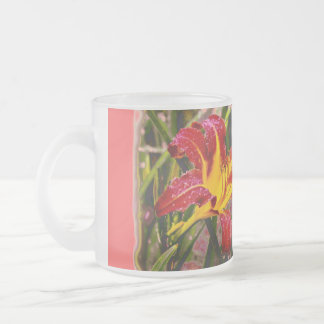Yesterday Lily After The Rain Frosted Glass Mug