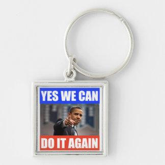 YesWeCan DoItAgain Obama Keychain