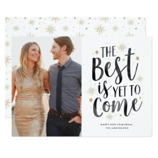 Yet to Come New Year Holiday Photo Card 13 Cm X 18 Cm Invitation Card