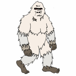 Yeti Cutout Magnet/Sculpture Acrylic Cut Outs