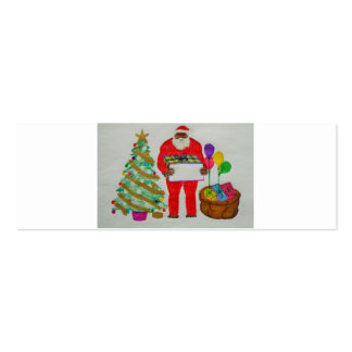 Yeti father Christmas Pack Of Skinny Business Cards