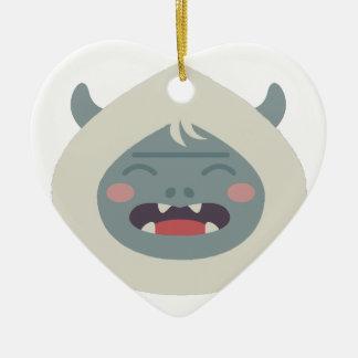 Yeti Head Christmas Ornament