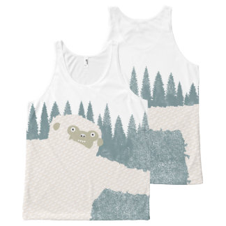 Yeti Hug All-Over Print Tank Top