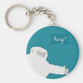 Yeti Hug Basic Round Button Key Ring