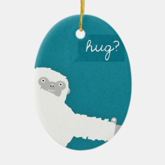 Yeti Hug Ceramic Oval Decoration
