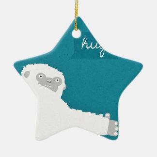 Yeti Hug Ceramic Star Decoration