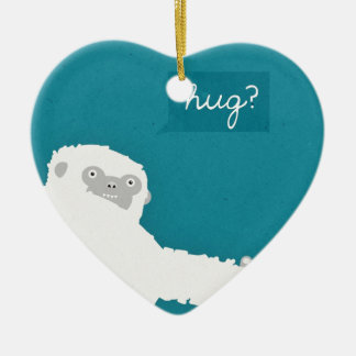 Yeti Hug Christmas Ornament